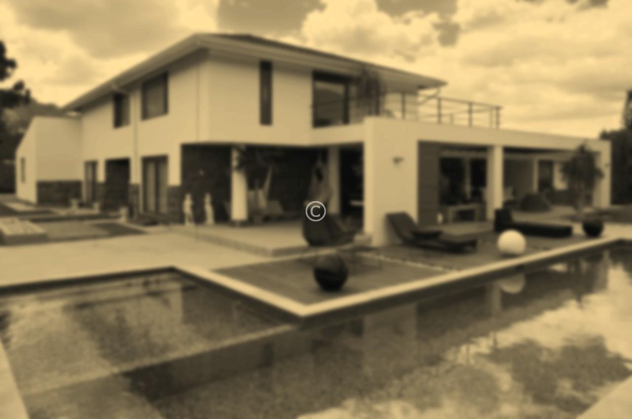 Modern big house with pool