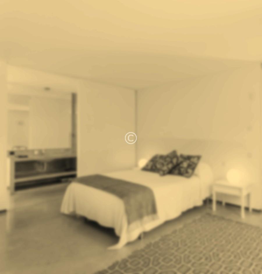Bedrooom in modern vacation house